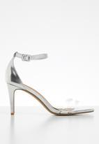 Cotton On - Shari double strap stiletto - silver