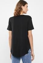 edit - High low tunic - black
