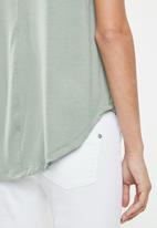 edit - High low tunic - green