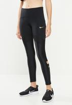 Nike - Nike speed 7/8 tights - black & gold