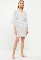 Cotton On - Woven lace trim gown - white