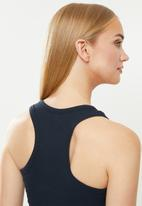 Cotton On - Rib racer back tank - navy
