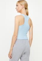 Cotton On - Rib racer back tank - blue