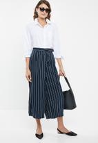edit - Paperbag culotte - navy & white