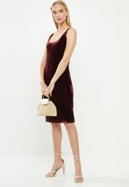 Cotton On - Kylie scooped bodycon dress - burgundy