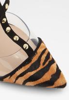ALDO - Celadrie leather heel - black & brown