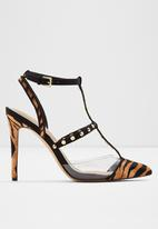 ALDO - Celadrie leather heel - black & brown