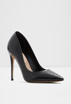 ALDO - Stessy_8 leather heel - black