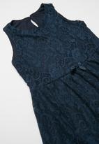 POP CANDY - Lace dress with bow - navy