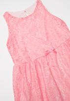 POP CANDY - Lace dress with bow - pink