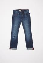 POLO - Liam distressed slim fit jean - blue