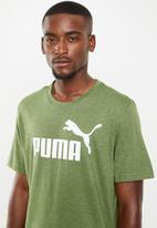 PUMA - Ess heather tee - green