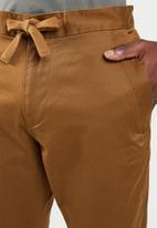 G-Star RAW - Bronson slim cuffed chino premium micro str twill - brown