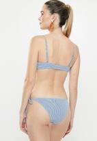 Cotton On - Tie side cheeky bikini bottom  - blue