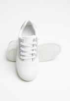 POP CANDY - Girls lace up sneaker - white