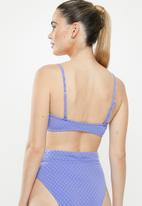 Cotton On - Scoop crop bralette bikini top  - blue