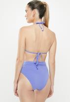 Cotton On - Banded highwaisted cheeky bikini bottom - blue