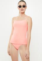 Cotton On - Refined strap tankini swim top  - orange