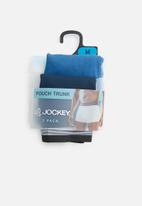 Jockey - 2 Pack one up stretch trunk - blue & navy