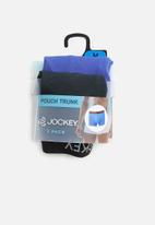 Jockey - 2 Pack urban trendz pouch trunk  - blue & black