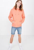 Factorie - Basic hoodie - coral