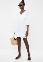 Lithe - Embroidered kaftan - white 1