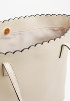 Cotton On - The scalloped edge tote - beige