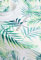 Sixth Floor - Leafy table cloth - green