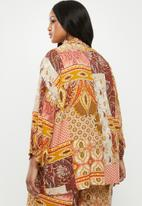 edit Plus - Wide sleeve kimono - multi