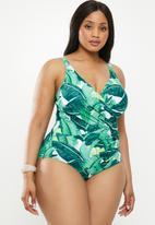 Bacon Bikinis - Shannon plus one piece - white & green