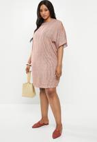 edit Plus - Sleeve detail shift dress (plus) - multi