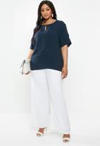 edit Plus - Keyhole blouse - navy