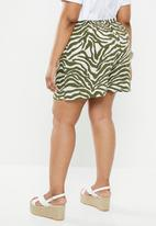 Superbalist - High waist soft shorts - green & white