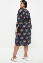 Superbalist - Kimono wrap dress - navy