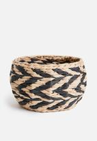 Sixth Floor - Natural woven basket - brown & black