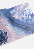 Typo - Premium spiral notebook - pink & blue