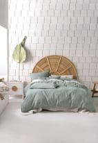 Linen House - Angelika duvet cover set - aqua