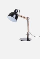 Sixth Floor - Crate desk lamp - black