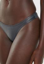 Sissy Boy - Metallic tanga bikini bottom - grey