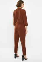Jacqueline de Yong - Geggo treats jumpsuit - brown