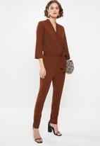 Jacqueline de Yong - Geggo treats jumpsuit - brown