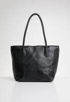 Joy Collectables - Textured shopper bag - black