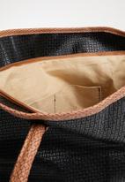 Joy Collectables - Contrast shopper tote bag - black