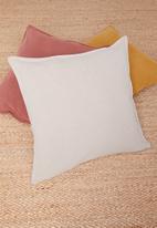 Hertex Fabrics - Linen blend cushion cover - ecru