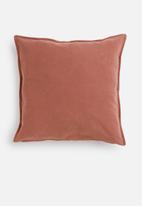 Hertex Fabrics - Linen blend cushion cover - tandoori
