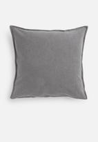 Hertex Fabrics - Linen blend cushion cover - battleship