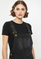 Superbalist - Long dungaree - black