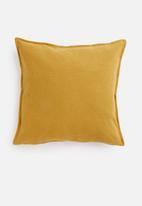 Hertex Fabrics - Linen blend cushion cover - gold finch