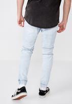 Factorie - Moto denim cuffed jeans - blue