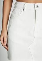 Cotton On - The classic denim skirt - white
